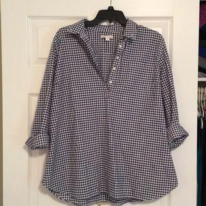 GAP Maternity 💯% cotton Flannel shirt